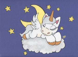 "Here's the picture you'll find if you google the phrase ""Sleeping Unicorn,"" which is what I just did. [taltopia.com]"