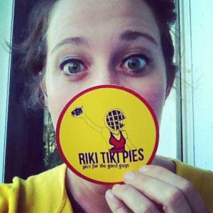 In 2012, after I picked up the first batch of Riki Tiki Pies stickers.