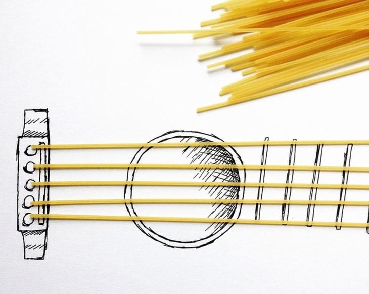 Spaghetti-Guitar